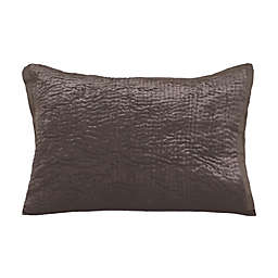 Wamsutta Collection Text Velvet F19 (Wam Collection) King Pillow Sham in Chocolate