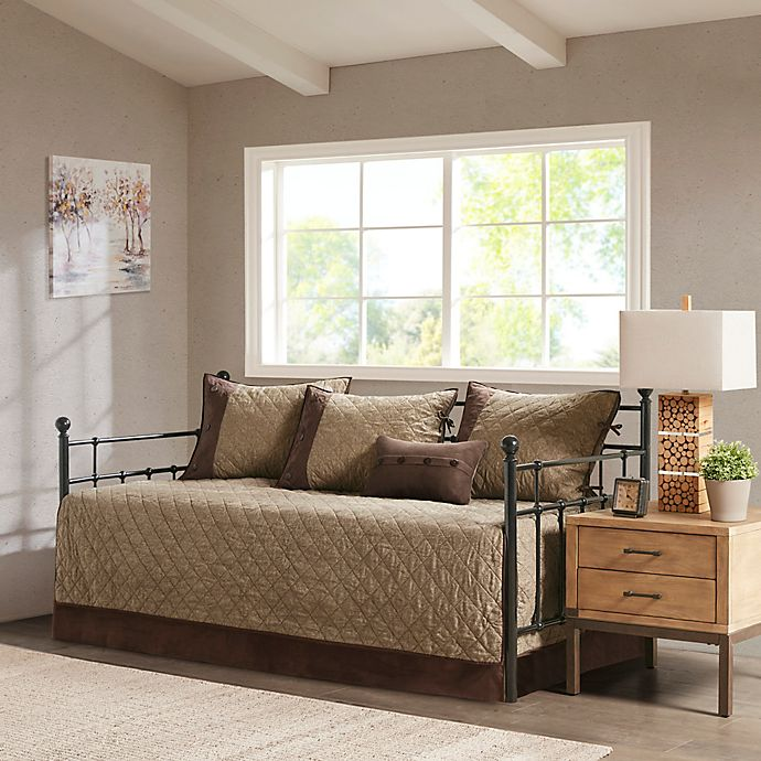 Alternate image 1 for Madison Park Boone 6-Piece Reversible Daybed Bedding Set in Brown