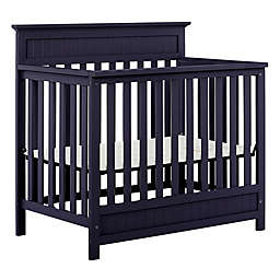 Dream On Me Harbor 3-in-1 Convertible Mini Crib in Navy