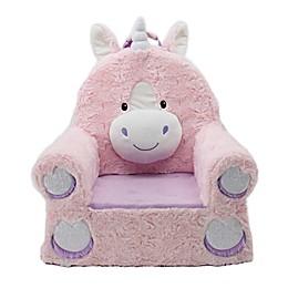 Sweet Seats® Soft Foam Unicorn Chair in Pink