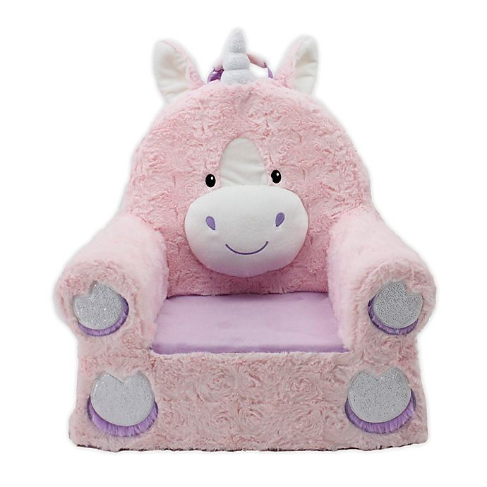 Alternate image 1 for Sweet Seats® Soft Foam Unicorn Chair in Pink