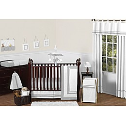 Sweet Jojo Designs Hotel Collection Crib Bedding in White/Grey