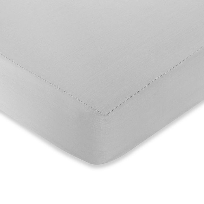 Alternate image 1 for Sweet Jojo Designs Hotel Fitted Crib Sheet in White/Grey