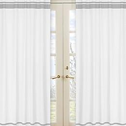 Sweet Jojo Designs Hotel 84-Inch Window Panels in White/Grey (Set of 2)