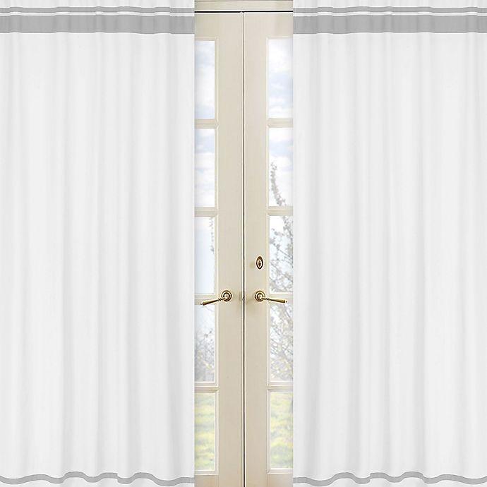 Alternate image 1 for Sweet Jojo Designs Hotel 84-Inch Window Panels in White/Grey (Set of 2)