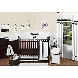 Sweet Jojo Designs Hotel Collection Crib Bedding Collection in White/Black