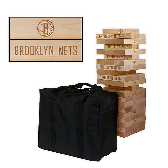 Alternate image 1 for NBA Giant Wooden Tumble Tower Game Collection