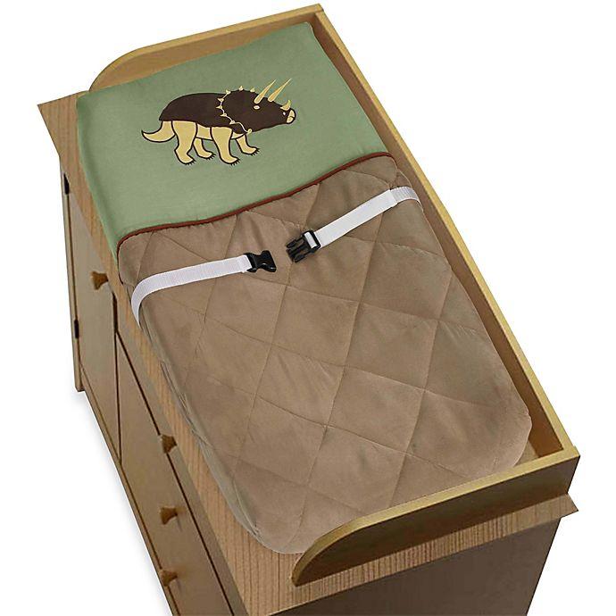Alternate image 1 for Sweet Jojo Designs Dinosaur Land Changing Pad Cover