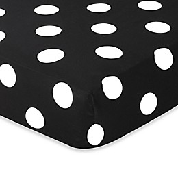 Sweet Jojo Designs Hot Dot Collection Dot Print Fitted Crib Sheet