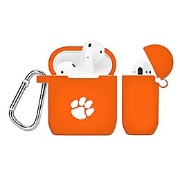 Clemson University Silicone Cover for Apple AirPods Charging Case in Orange
