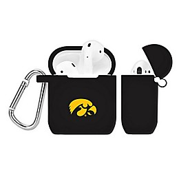 University of Iowa Silicone Cover for Apple AirPods Charging Case in Black