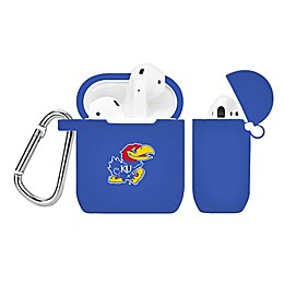 University of Kansas Silicone Cover for Apple AirPods Charging Case in Royal Blue
