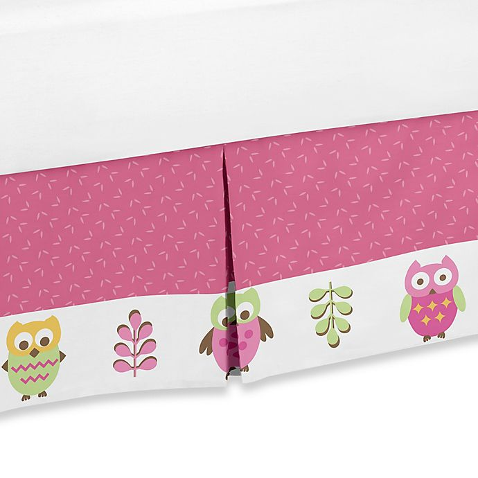 Alternate image 1 for Sweet Jojo Designs Happy Owl Queen Bed Skirt