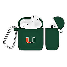University of Miami Silicone Cover for Apple AirPods Charging Case in Green