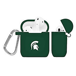 Michigan State University Silicone Cover for Apple AirPods Charging Case in Green
