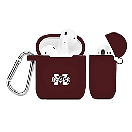 Mississippi State University Silicone Cover for Apple AirPods Charging Case in Maroon