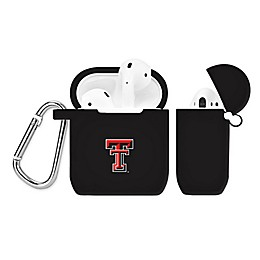 Texas Tech University Silicone Cover for Apple AirPods Charging Case in Black