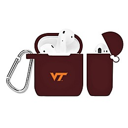 Virginia Tech Silicone Cover for Apple AirPods Charging Case in Maroon
