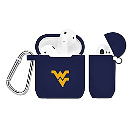 West Virginia University Silicone Cover for Apple AirPods Charging Case in Navy