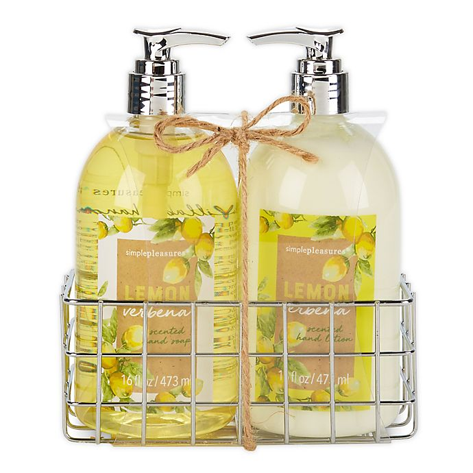 Alternate image 1 for Simple Pleasures Fancy Caddy Hand Soap and Hand Cream in Lemon Verbena