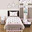 Part of the Sweet Jojo Designs Mod Elephant Bedding Collection in Pink/Taupe