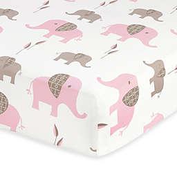 Sweet Jojo Designs Mod Elephant Fitted Crib Sheet