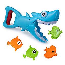 Hoovy 5-Piece Shark Grabber Bath Toy in Blue