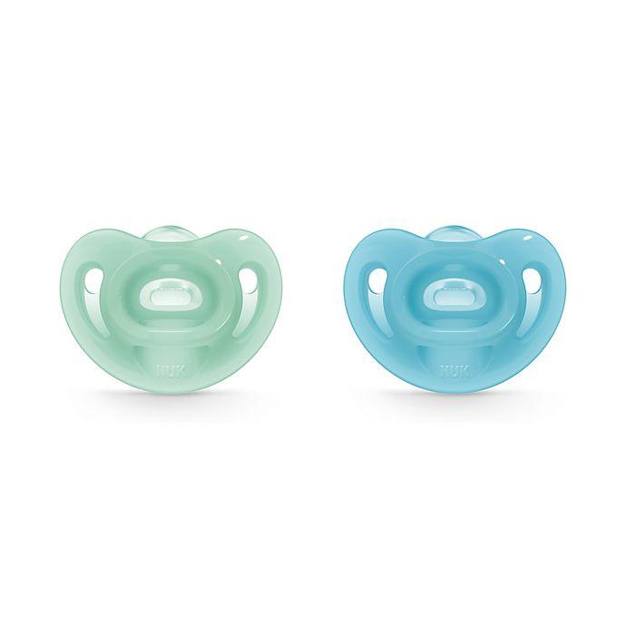 Alternate image 1 for NUK® Sensitive™ Boy 0-6M Orthodontic Pacifiers