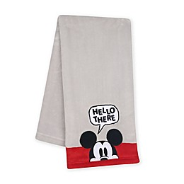 Lambs & Ivy® Magical Mickey Mouse Baby Blanket in Grey/Red