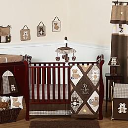 Sweet Jojo Designs Teddy Bear Crib Bedding Collection in Chocolate