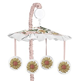 Sweet Jojo Designs Vintage Floral Musical Mobile in Pink/Green