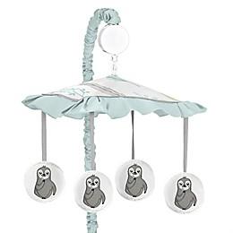 Sweet Jojo Designs Sloth Musical Mobile in Aqua/Grey