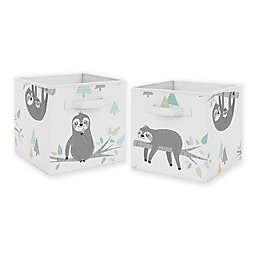 Sweet Jojo Designs Sloth Storage Bins in Aqua (Set of 2)