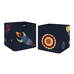 Sweet Jojo Designs Space Galaxy Storage Bins