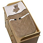 Sweet Jojo Designs Teddy Bear Changing Pad Cover in Chocolate