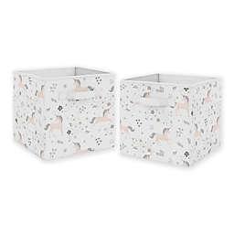 Sweet Jojo Designs Unicorn Fabric Storage Bins