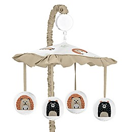 Sweet Jojo Designs Woodland Pals Musical Mobile in Beige/White
