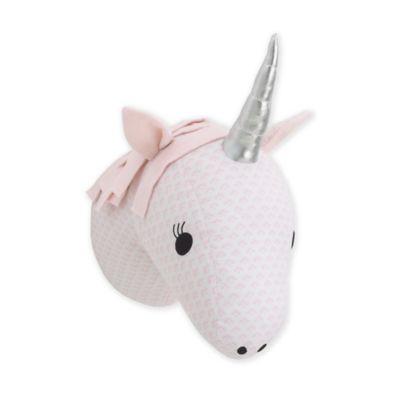NoJo Grey /& White Rhino Plush Head Wall D/écor