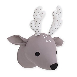 NoJo® Deer 7-Inch x 12-Inch Plush Wall Décor in Taupe