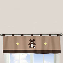 Sweet Jojo Designs Teddy Bear Window Valance in Chocolate