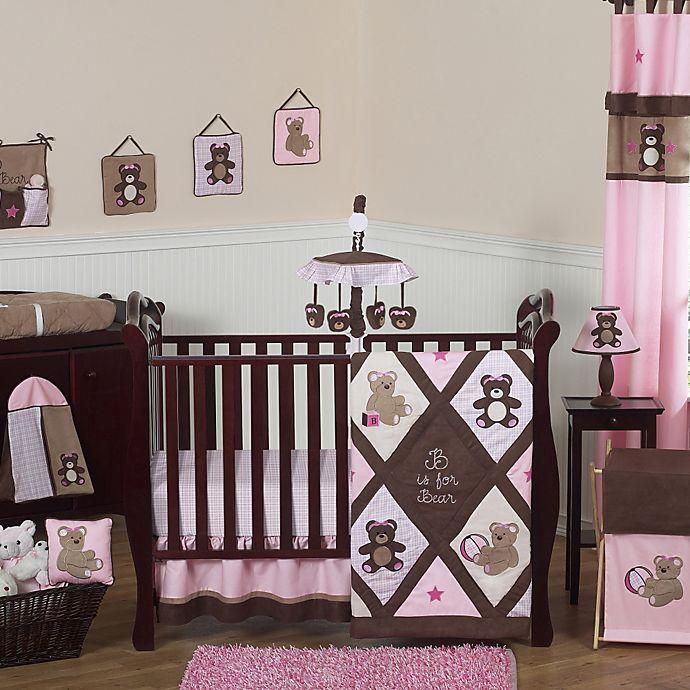 Sweet Jojo Designs Teddy Bear Crib Bedding Collection In Pink Chocolate