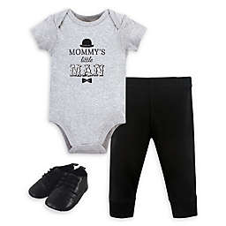 Little Treasure 3-Piece Mommy's Man Bodysuit, Pant and Shoe Set