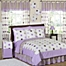 Part of the Sweet Jojo Designs Mod Dots Bedding Collection in Purple/Chocolate