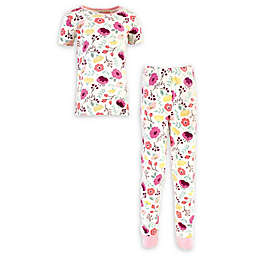 Touched by Nature 2-Piece Botanical Organic Cotton Pajama Set in Pink