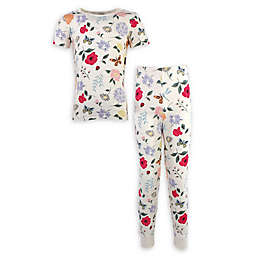 Touched by Nature 2-Piece Flutter Organic Cotton Pajama Set in Yellow
