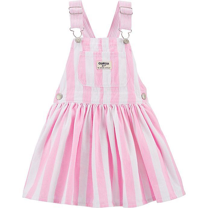 Alternate image 1 for Osh Kosh B'gosh® Striped Jumper in Pink/White