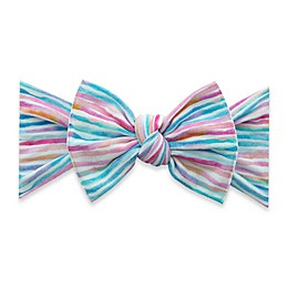 Baby Bling One Size Striped Knot Bow Headband in Pink/Blue