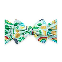 Baby Bling® One Size Paddy's Party Bow Headband in Green