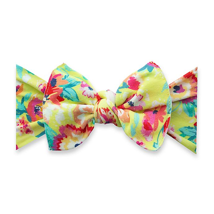 Alternate image 1 for Baby Bling® One Size Bright Botanical Bow Headband in Red/Yellow
