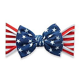 Baby Bling® One Size Flag Bow Headband in Red/White/Blue